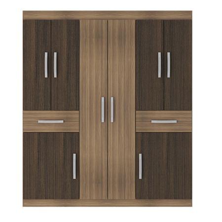 closet-exit-8-puertas-2-cajones--157x181x40--correderas-metalicas-alto-brillo-castano