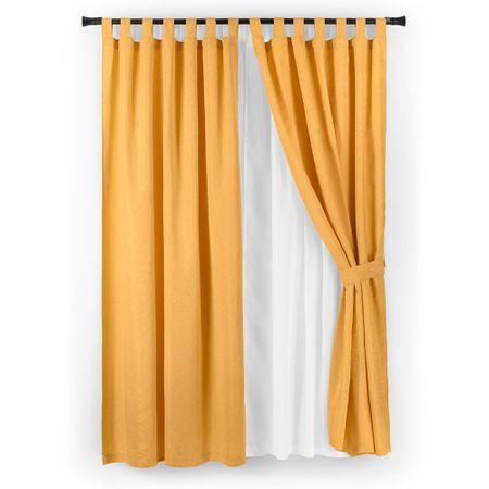 set-cortina-casa-bella-jacquard-6-piezas-oro
