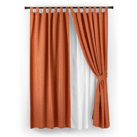 set-cortina-casa-bella-jacquard-6-piezas-terracota