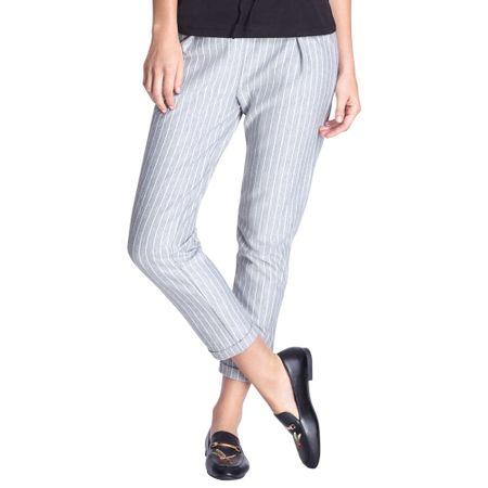 Pantalon-Trouser-Rayas-Gris-