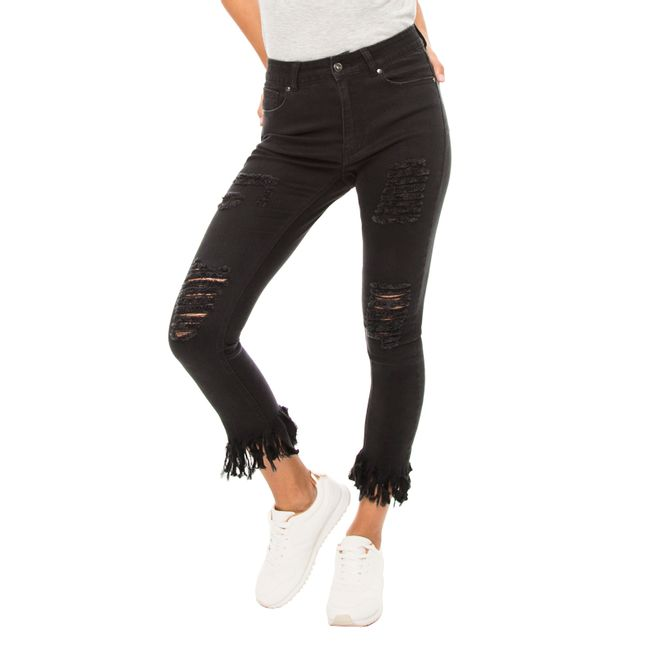 Jeans-Skinny-Destroyed-Flecos-Negro-OI2018