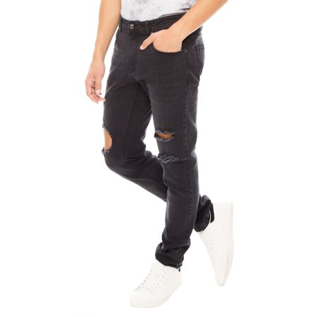 Jeans-Destroyed-Skinny-Rodilla-Black-OI2018