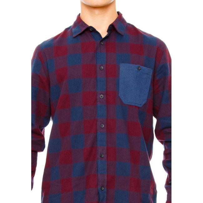 Camisa-Franela-Burgundy-blue-OI2018