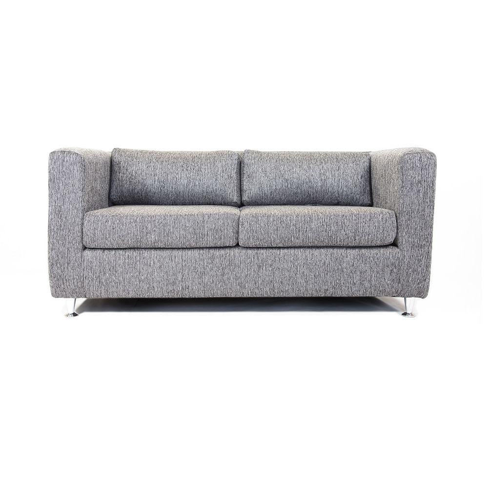 Sof mmobili 3c dan s tela gris oscuro corona for Sofa gris oscuro