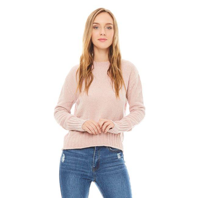 Sweater-chenille-Cuello-U-Rose-Smoke-