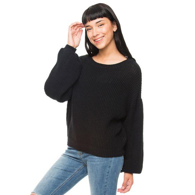 Sweater-Manga-Globo-Negro-