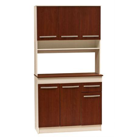 Mueble Cocina Mobikit Cerezo 6 Puertas 1 Cajón 90X38X180