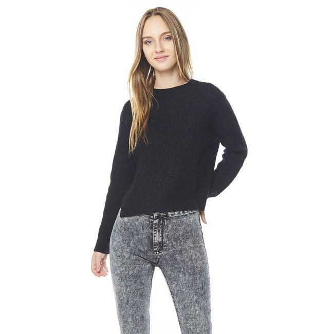 Sweater-Punto-Ingles-Cuello-U-Negro