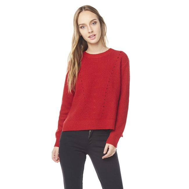 Sweater-Punto-Ingles-Cuello-U-Rojo