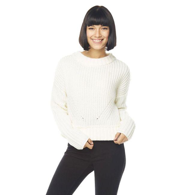 Sweater-Crop-Cuello-Alto-Chunky-Blanco