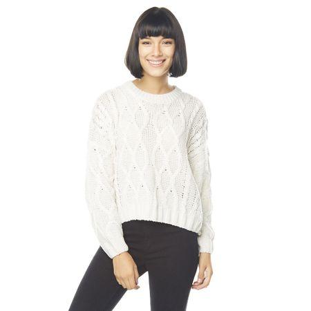 Sweater-Crop-Trenzado-Ecru