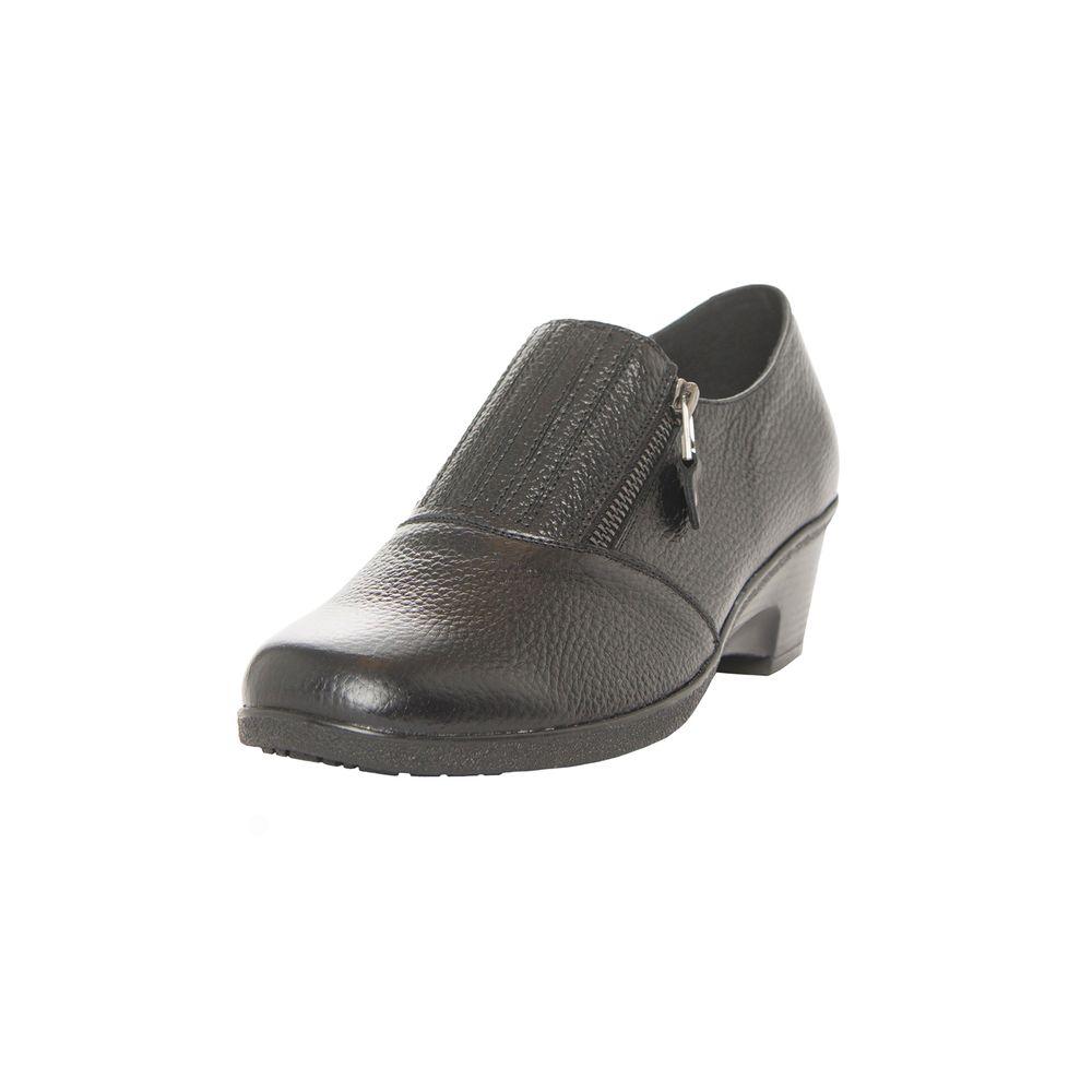 Zapato Comfort Cierre Negro Corona Hd7ZdZeQqv