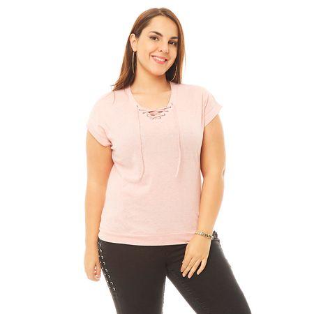 Polera-Tejida-Lace-Camo-Rosa-Talla-S