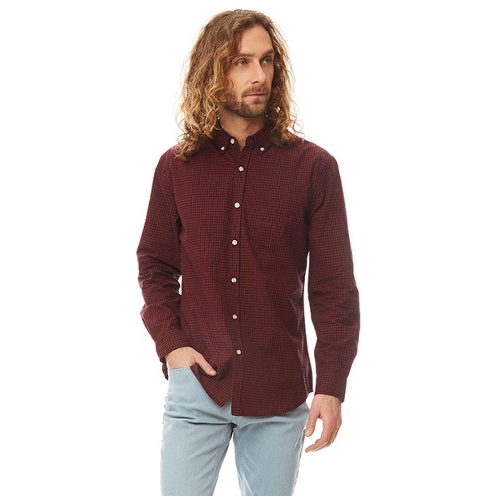 Camisa-Minicheck-Vichy-Rojo-Negro-PV19-Talla-M-PV19-1
