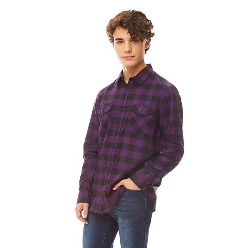 Camisa-Cuadro-Morado-Negro-PV19-Talla-S-PV19-1