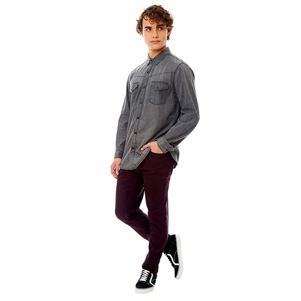 Camisa-Denim-SNAP-Gris-PV19-Talla-S-PV19-1
