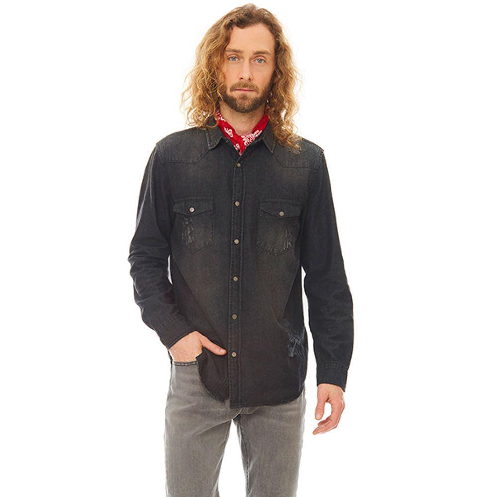 Camisa-Denim-Deshilachado-Negro-PV19-Talla-S-PV19-1