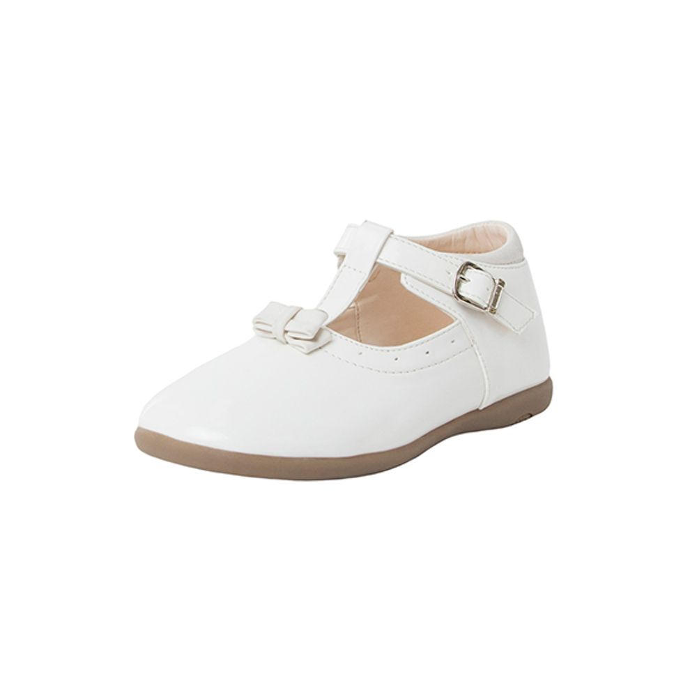 Zapato-Ballerina-Niña-Charol-Cinta-Kid-Blanco-PV19-Talla-22-PV19-1