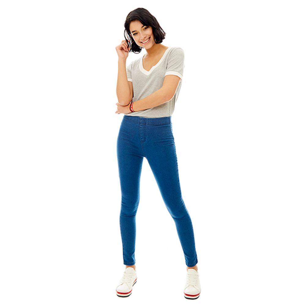 Leggins-High-Rise-Pretina-Elastico-Skinny-Azul-Medio-PV19-Talla-36-PV19-1