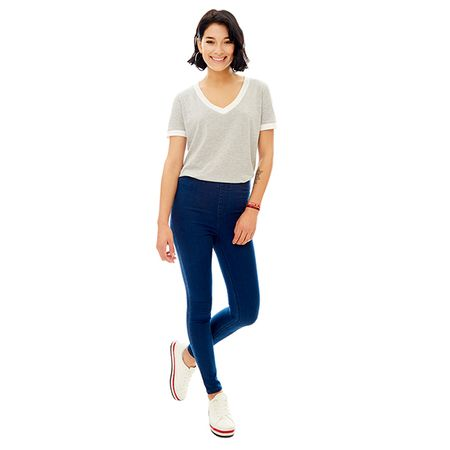 Leggins-High-Rise-Pretina-Elastico-Skinny-Azul-Oscuro-PV19-Talla-36-PV19-1