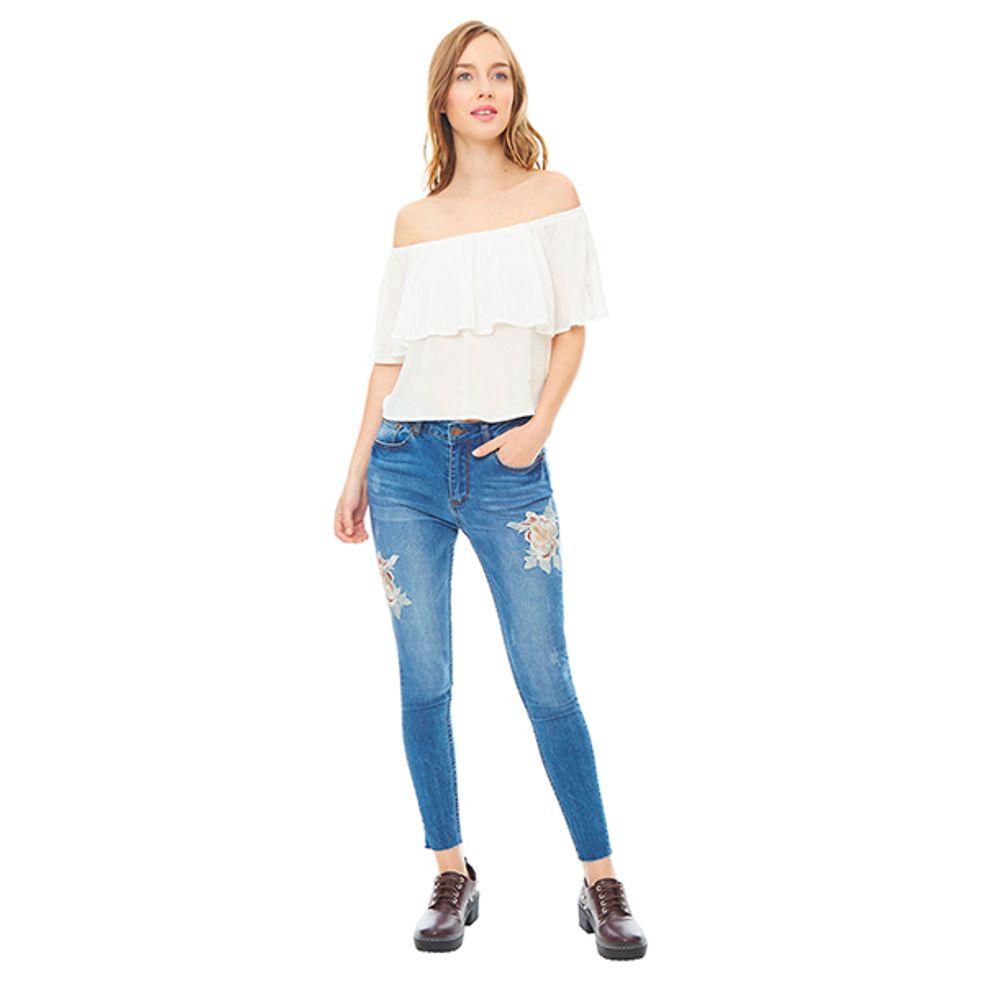 Jeans-Bordado-Flor-Meduim-Denim-PV19-Talla-38-PV19-1