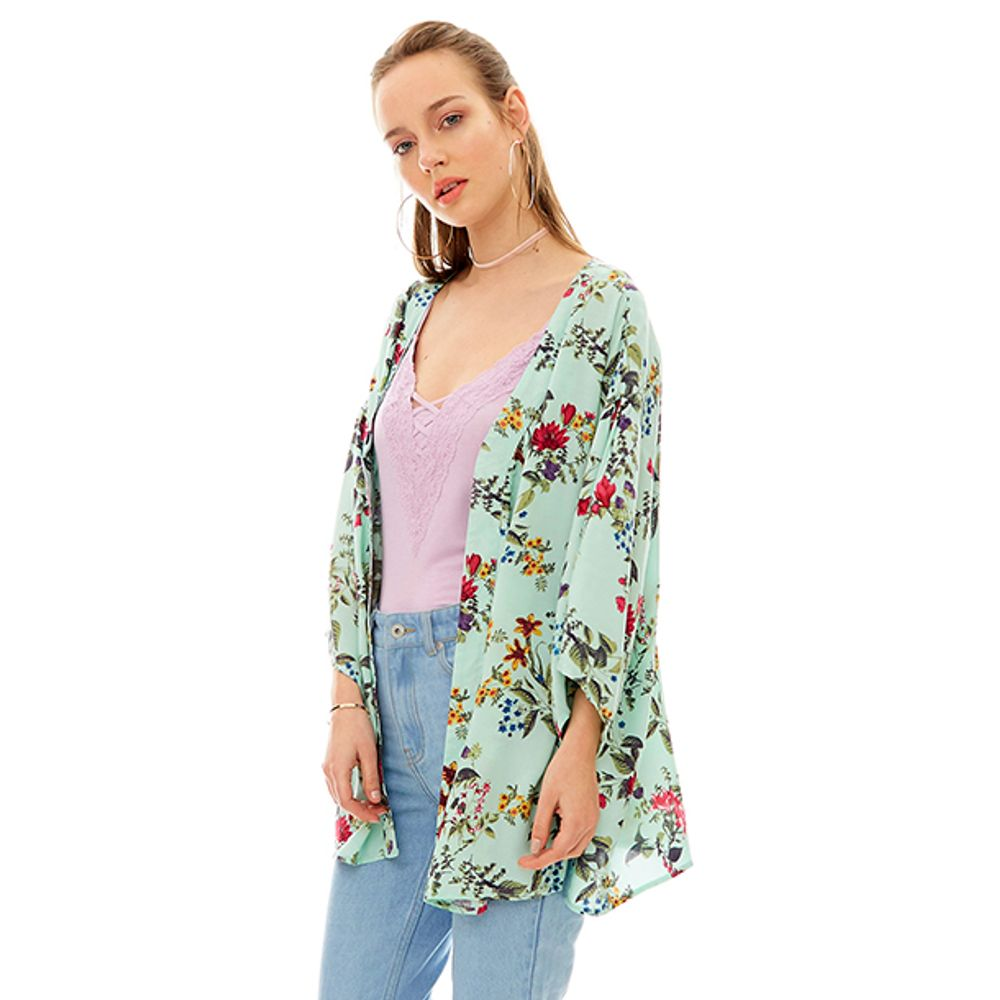 Kimono-Print-Amarra-Menta-Flores-PV19-Talla-S-PV19-1