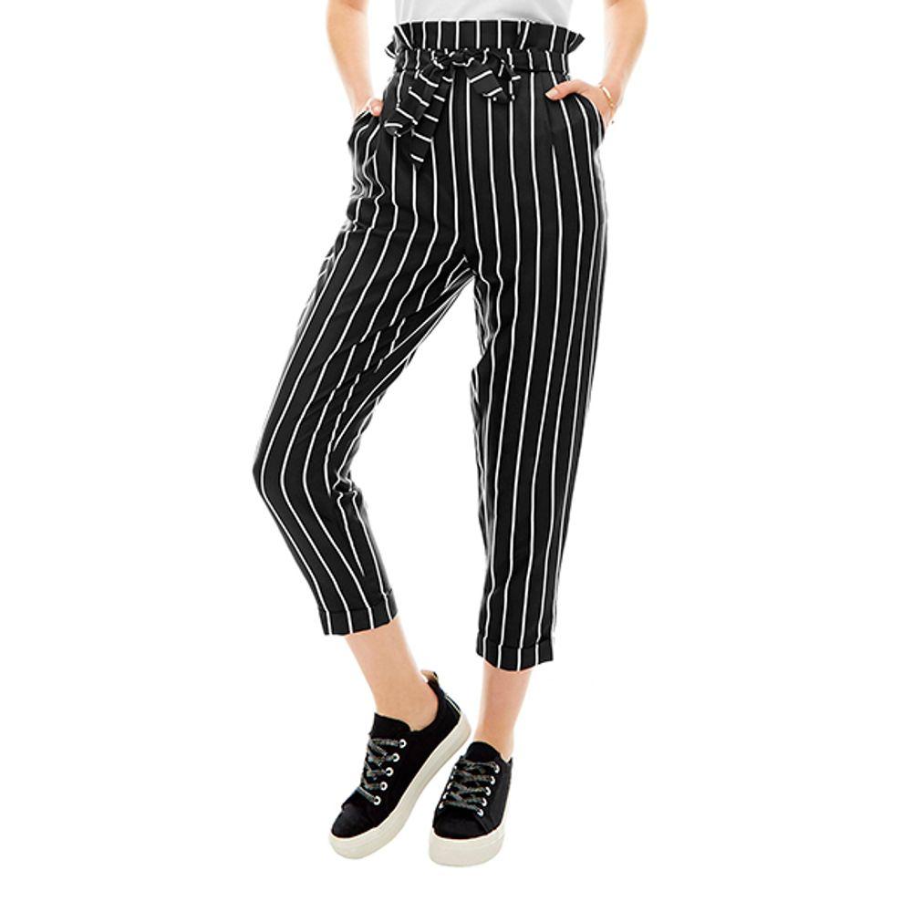 Pantalon-Paper-Bag-Rayas-Negro-Blanco-PV19-Talla-XS-PV19-1