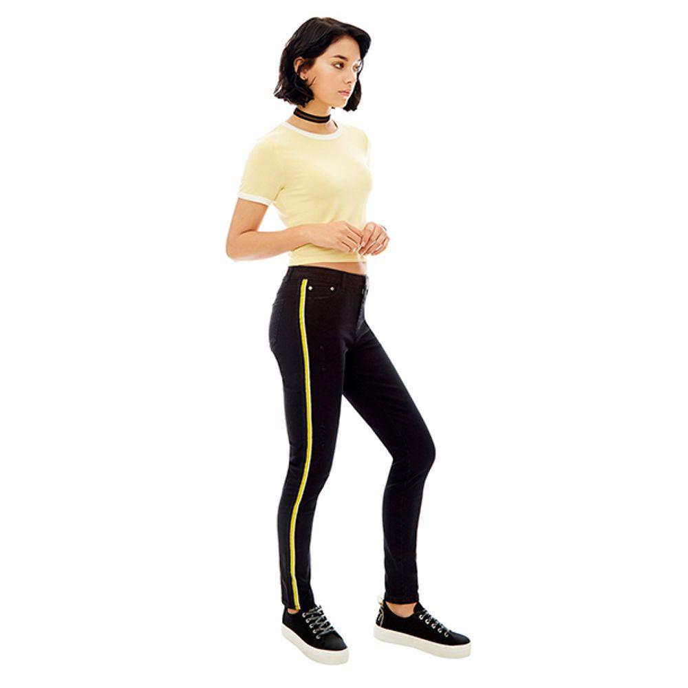 Jeans-High-Rise-Skinny-Bandas-Amarillas-Negro-PV19-Talla-36-PV19-1