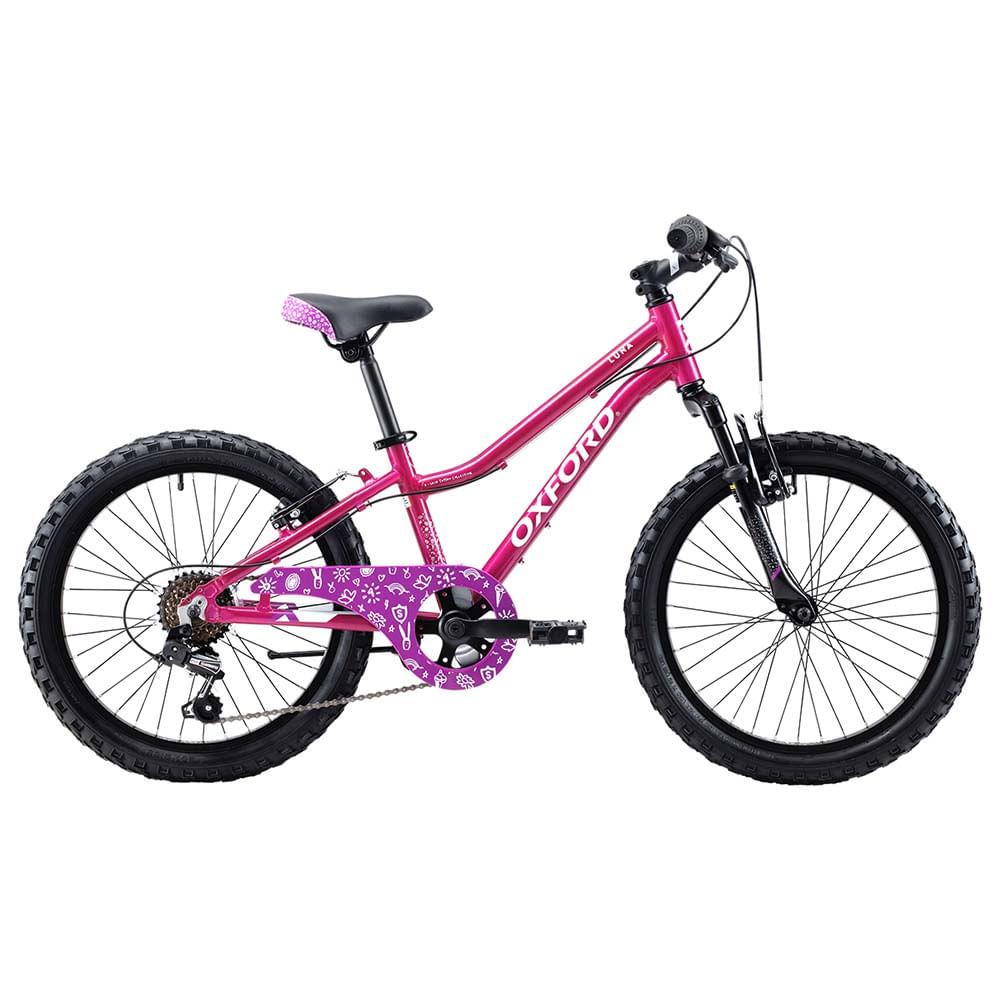 5f7b61866 Bicicleta Oxford Aro 20 LUNA SUSP 1V FUCSIA BLANCO - Corona