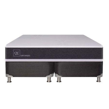 box-spring-cic-new-ortopedic-b5-black-2-plazas-base-dividida