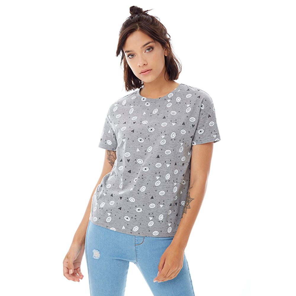 f4512aaccc04e Polera Ojos Gris Mujer