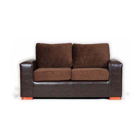 sofa-bicolor-muebles-america-felpa-pu-2-cuerpos-cafe-chocolate