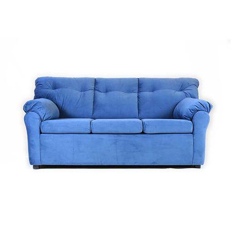 sofa-muebles-america-3-cuerpos-felpa-azul-petroleo