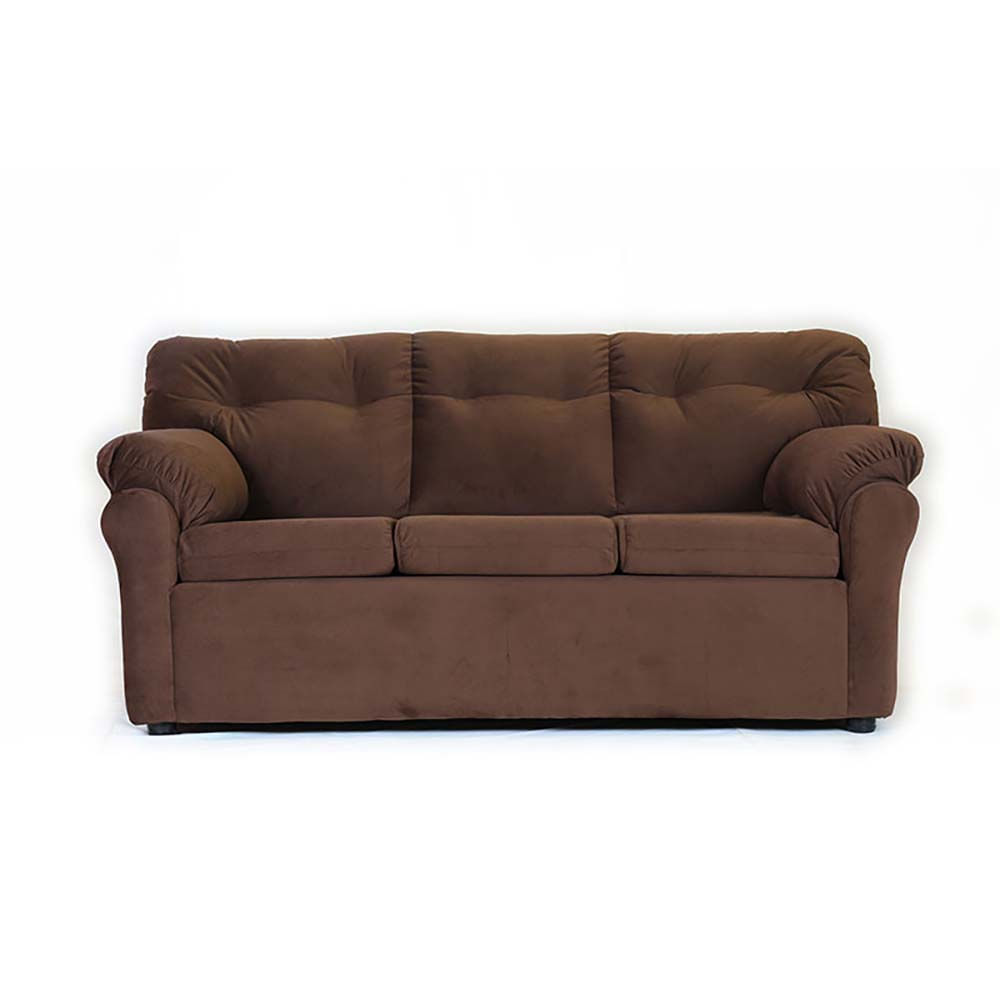 sofa-muebles-america-3-cuerpos-felpa-chocolate