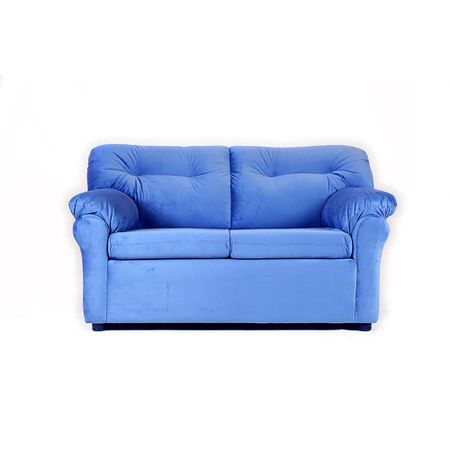 sofa-muebles-america-2-cuerpos-felpa-azul-petroleo