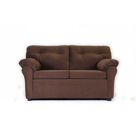 sofa-muebles-america-2-cuerpos-felpa-chocolate
