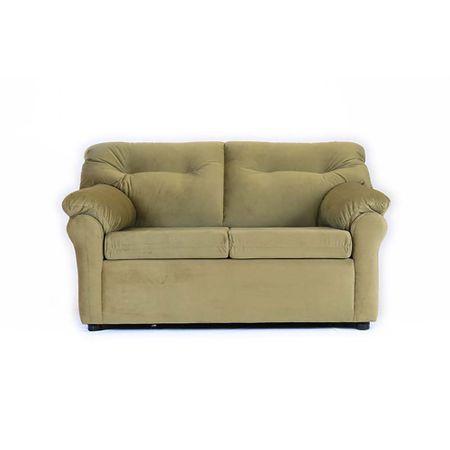 sofa-muebles-america-2-cuerpos-felpa-verde