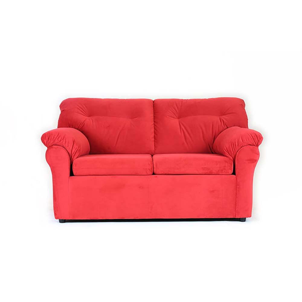 sofa-muebles-america-2-cuerpos-felpa-rojo