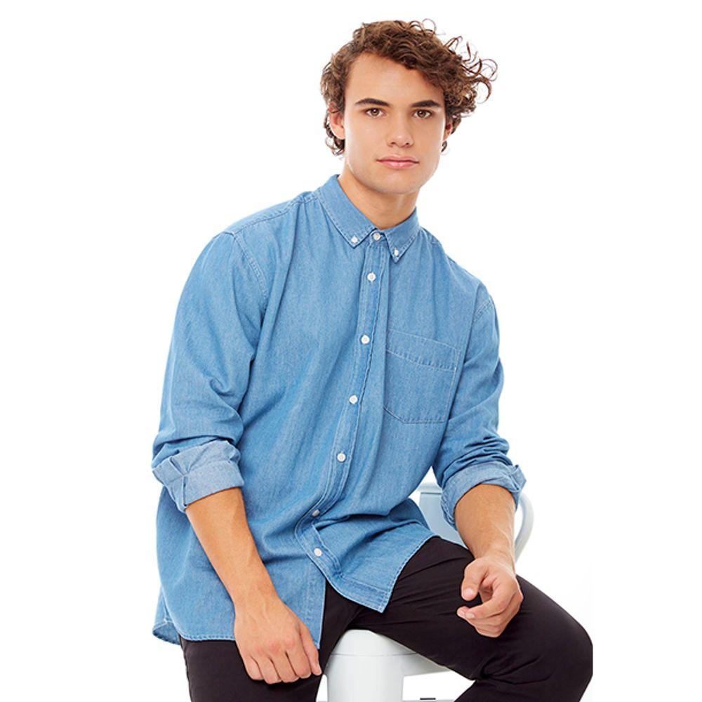 3b81b6474 Camisa Denim III Azul Hombre - Corona