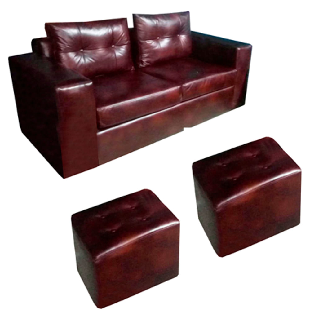 sofa-tokio-2cps--2-pouf-pu-negro-almore