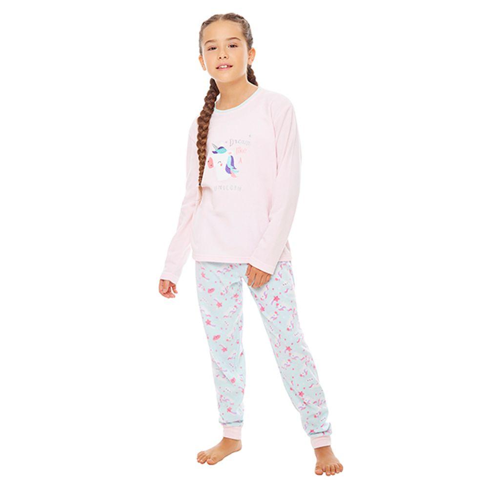 1e0c796b6 Pijama Polar Niña Rosa - Corona
