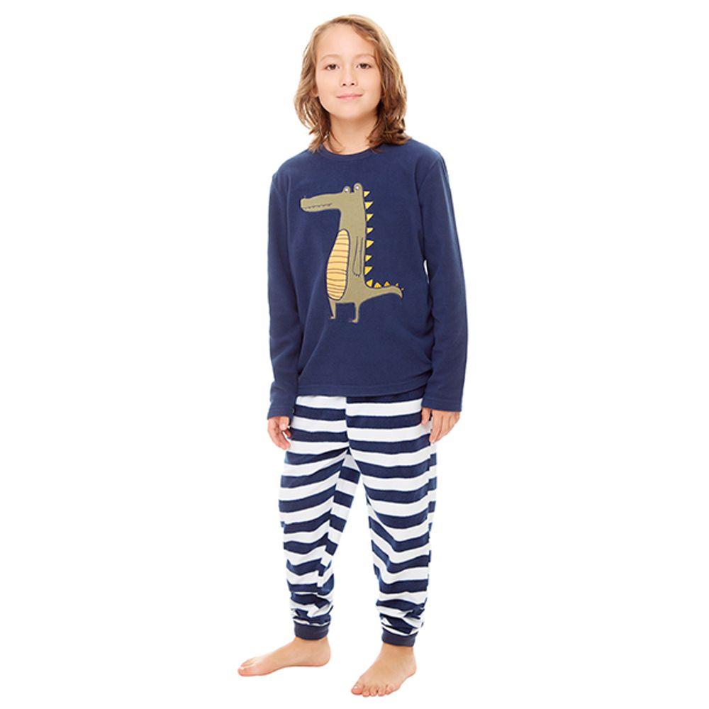 6b31c72a7 Pijama Polar Niño Azul - Corona