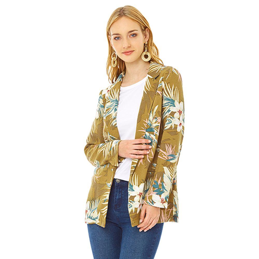 nuevo alto tan barato Precio pagable Blazer Básico Print Mujer - Corona